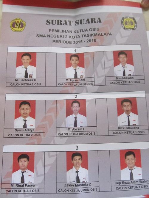 Pemilihan Ketua Osis Baru Pilkaos 20152016 Sman 2